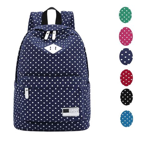 Backpack Set Polka 3in1 1 Brand New Canvas Bag Mochilas Mujer Fashion