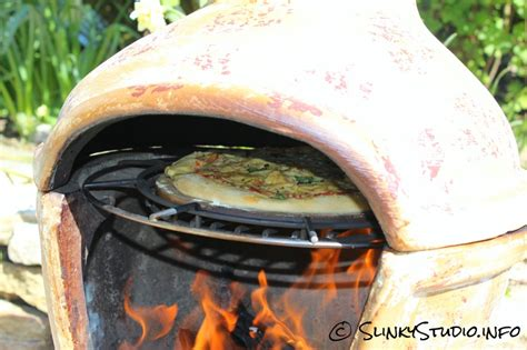 How To Cook On A Chiminea la hacienda clay pizza chimenea review slinky studio