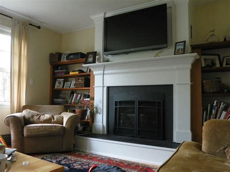 Big Screen Tv Fireplace by Pin By Davis On Bookshelves Ideas