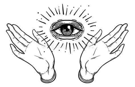 open hands tattoo designs open with the all seeing eye on the palm occult