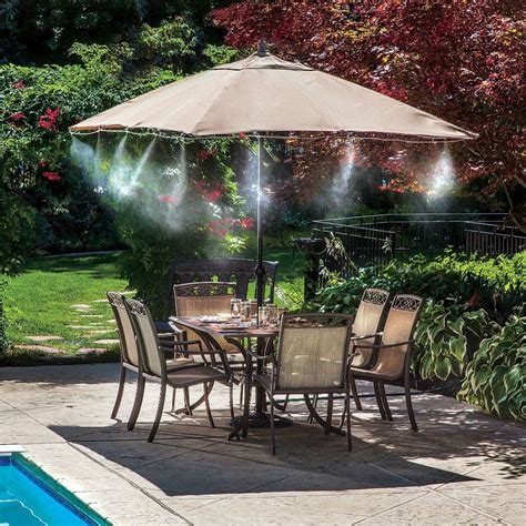 backyard misting system outdoor misting system pool mister kit air cooler deck