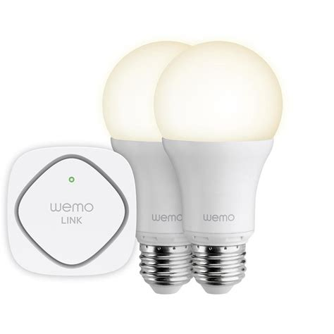 smart led light bulbs belkin wemo led lighting starter set two wemo