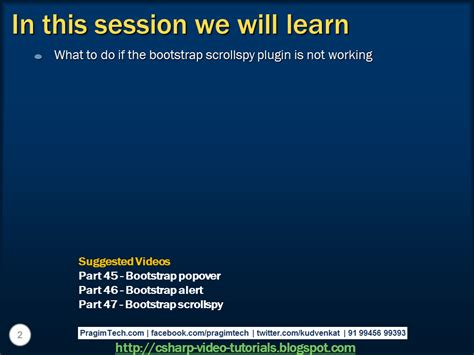 tutorial bootstrap scrollspy sql server net and c video tutorial bootstrap
