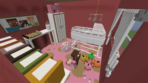 Minecraft Baby Crib by Baby S Room Minecraft Project