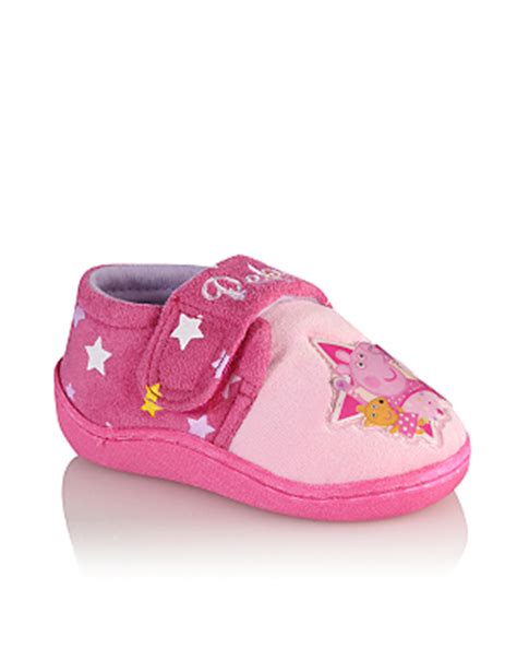 pig house shoes peppa pig slippers girls george at asda