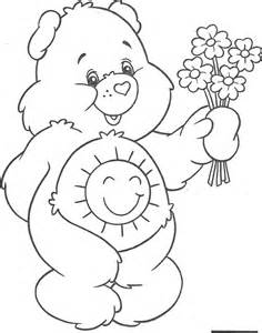 funshine bear coloring page coloring home
