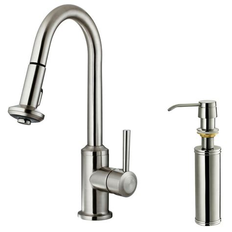 kitchen faucet soap dispenser vigo single handle pull out sprayer kitchen faucet with