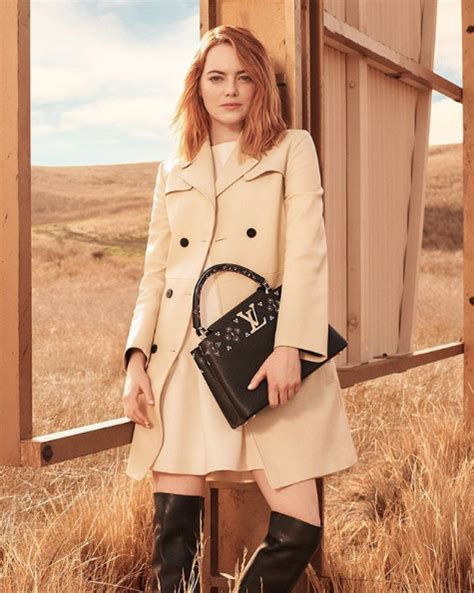 emma stone louis vuitton oscar winning actress emma stone hits the californian