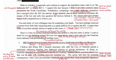 Insurance Companies Misleading Letters Nc Senate President Berger Sends Misleading Letter To Ceos Human Rights Caign