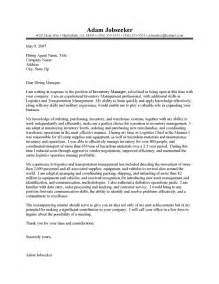 cover letter for inventory specialist cover letter exle cover letter exles inventory