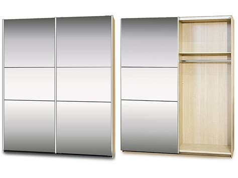 Mirror Sliding Wardrobe by Sliding Bedroom Wardrobe In Maple With Mirror Homegenies