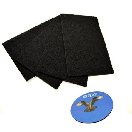 hqrp 4 pack carbon pre filter c fits bionaire a1230h 9000492 ge 106743 106753 106773