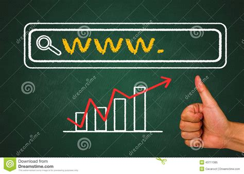 Website Address Lookup Web Address Search Bar Stock Photo Image 43711385