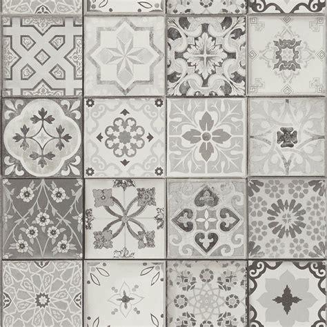 Tapisserie Carreaux De Ciment by Papier Peint Carreaux Vinyle Sur Intiss 233 Imitation