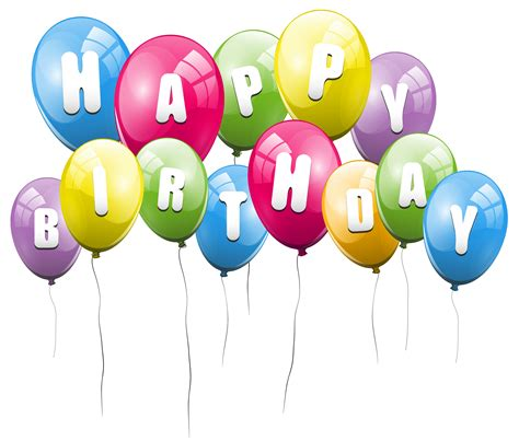 Birthday balloons png clipart best