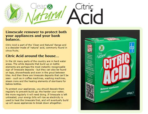 Zojirushi Citric Acid For Electric Pots Limited citric acid as a cleaner diydry co