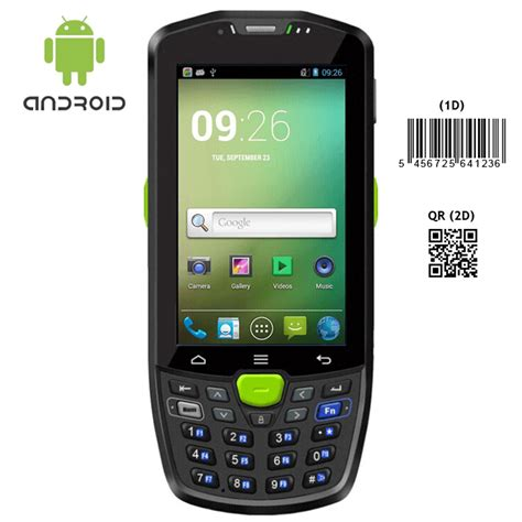 barcode scanner android rugged android 4 4 2d barcode scanner ip67 handheld terminal with wifi bluetooth 3g gps