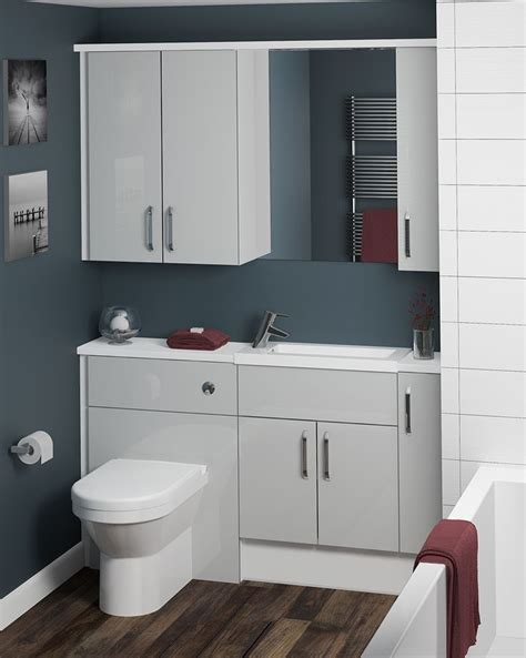 grey high gloss bathroom furniture the neutral tones of our cool grey furniture makes it