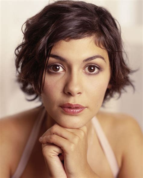 short and medium haircuts on ordinary people audrey tautou by stephen danelian 2003 people 03
