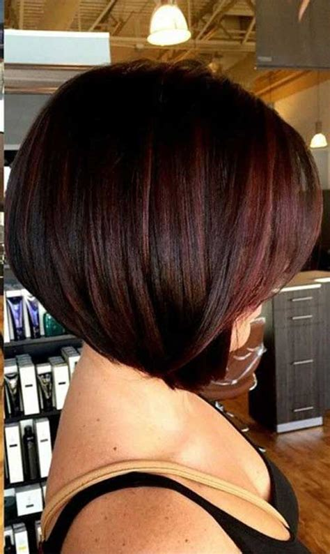 shoulder length inverted bob haircut over 50 medium length stacked bob hairstyles back view