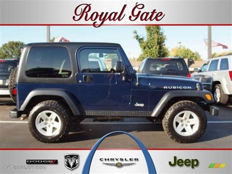 dark blue jeep rubicon 2006 midnight blue pearl jeep wrangler rubicon 4x4