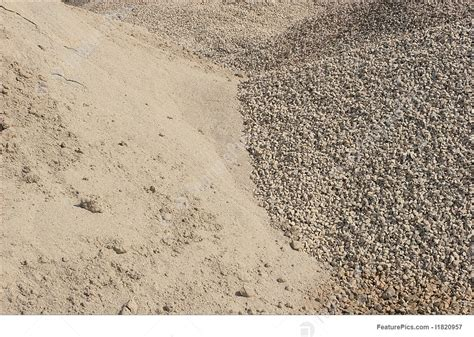picture of sand and gravel piles