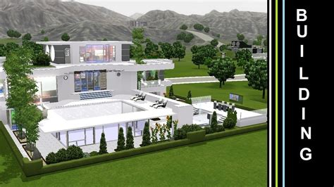 future house the sims 3 into the future building a futuristic house green terasse youtube