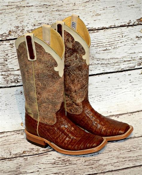 brown caiman bean boots boot belt