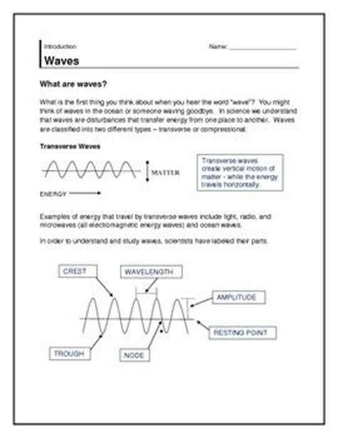 Behavior Of Waves Worksheet by 1000 Images About Waves On Behavior Sheet