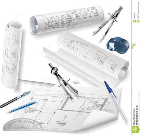 Architectural Drawings Royalty Free Stock Photos Image Architectural Drawings Vector