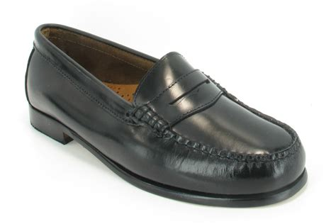 womens bass loafers gh bass weejuns womens black leather loafers slip on