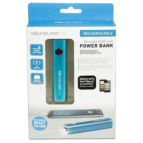 soundlogic xt portable 2600 mah rechargeable power cell