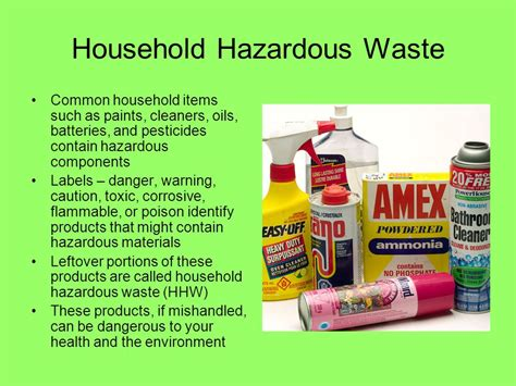 hazardous household products solid waste ppt video online download