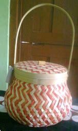 Keranjang Mini Kotak pusat kerajinan bambu souvenir anyaman bambu