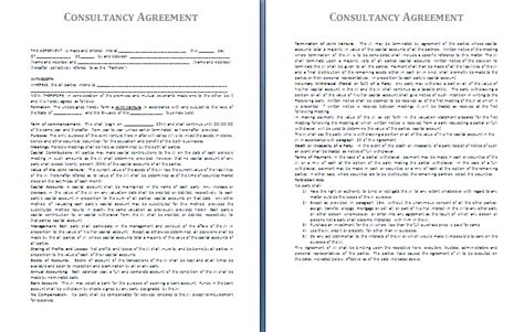 consultancy contract template it consultant contract template free printable documents