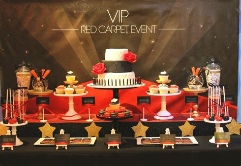 red themed events events by nat vip red carpet event dessert table