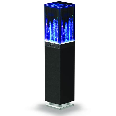 bluetooth water light speakers naxa 97094555m dancing water light tower speaker system