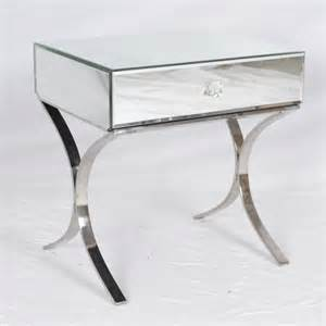 Small Mirrored Desk Small Modern Mirrored Console Table With Single Drawer And Stainless Steel Legs Ideas