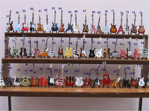 Handmade Miniatures - miniature guitar handmade mini guitar from