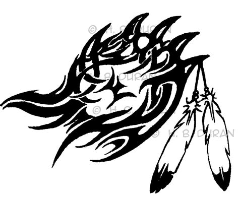 tribal claw tattoo black paw drawings