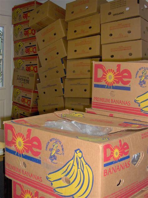 banana boxes the boxes bananas came in