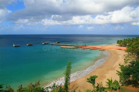 crash boat antes y despues crashboat beach aguadilla puerto rico stock photo