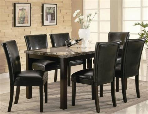 Buy Low Price Coaster 7pc Dining Table Parson Chairs Set Black Parsons Dining Table