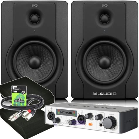 M Audio Bx5 by M Audio Bx5 D2 Mtrack Mk2 Pads Cables Whybuynew