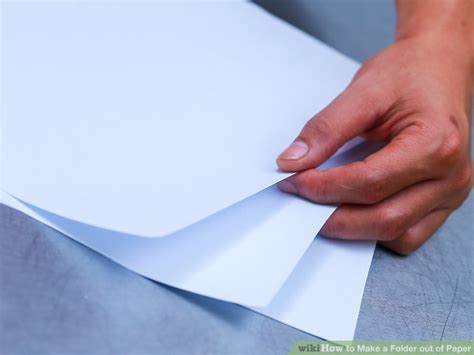 How To Make A Folder Out Of Paper - how to make a folder out of paper 13 steps with pictures