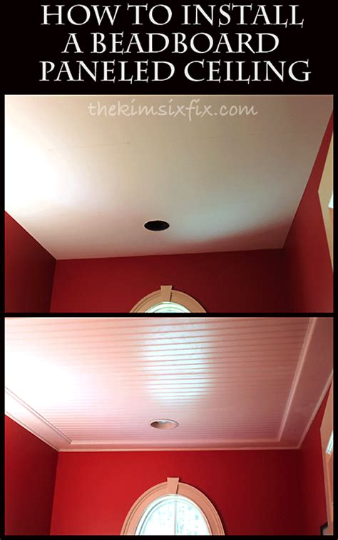 How To Install Wainscoting On Ceiling by How To Install Beadboard Ceiling Png
