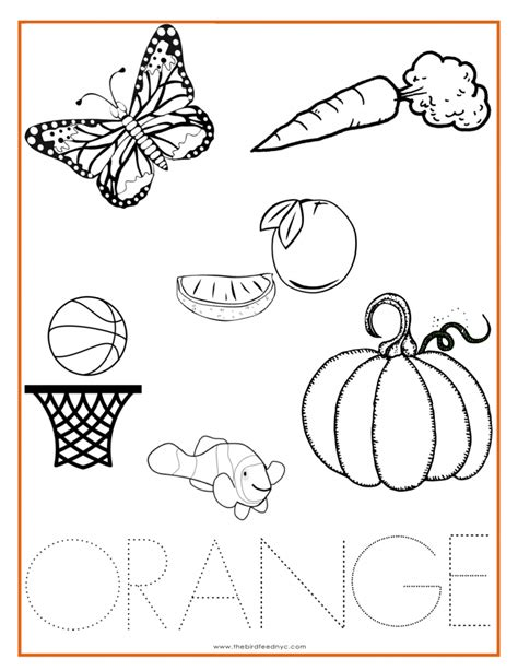 coloring pages colors preschool orange color activity sheet other colors the preschool