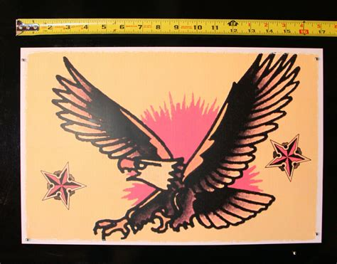 sailor jerry eagle tattoo 089 american eagle pin up vintage sailor jerry traditional