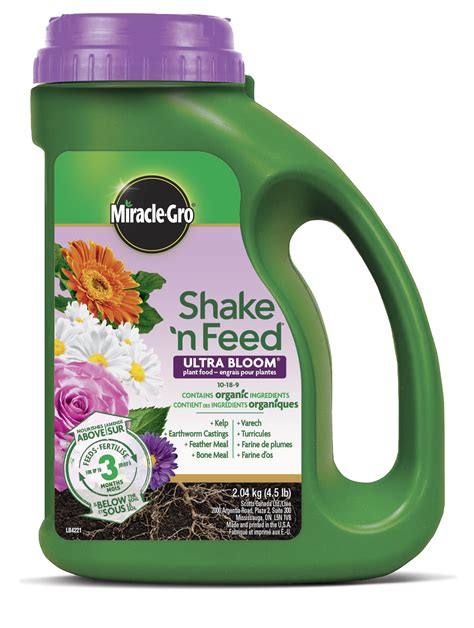 miracle gro shake  feed ultra bloom plant food