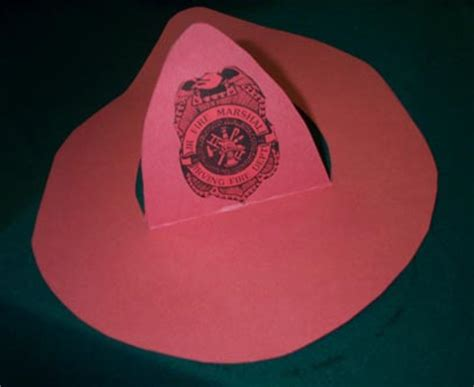 firefighter hat template preschool sail into careers tslac